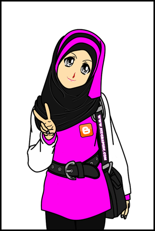 muslimah doodle & cartoon cute pink