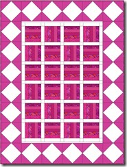 Pink-white-railfence-large-square-on-point