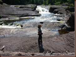 Sandstone Falls  -Black River Waterfalls MI