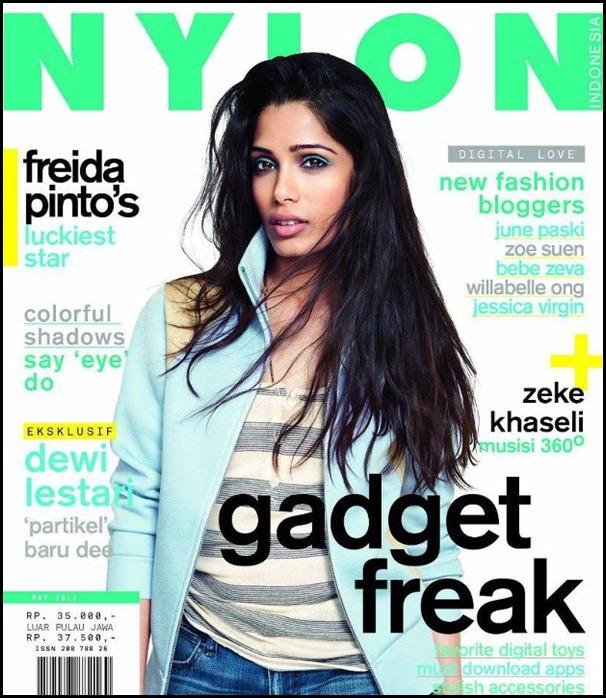 Freida Pinto Covers Nylon Indonesia