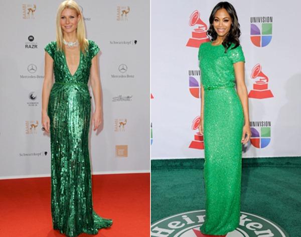 gwyneth-paltrow-zoe-saldana-vestido-verde