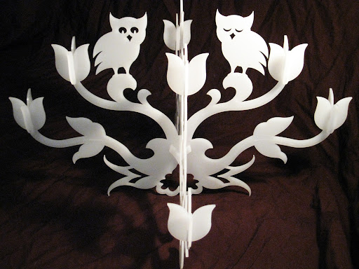 Flat-Pack chandelier from Lasercut acrylic.