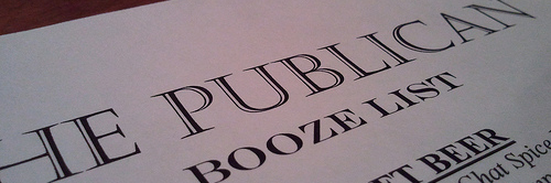 image of The Publican's 'soft opening' 2011-12-23 courtesy of our Flickr page