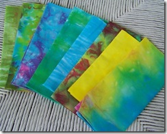 hand dyed eighths  group