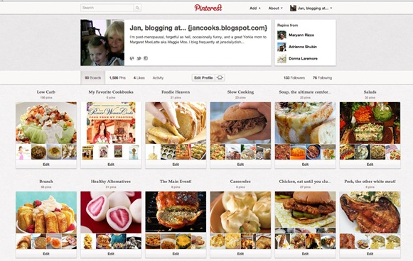 Jan, blogging at... {jancooks.blogspot.com} (janandhergirls) on Pinterest
