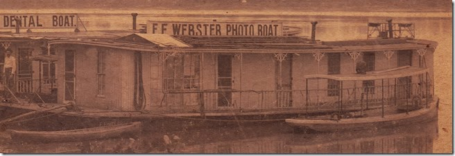 Webster Dental & Photo Boats 1896-1902 at Lake Charles, Louisiana