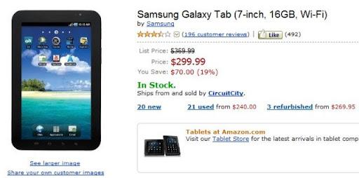 Samsung Galaxy Tab en oferta