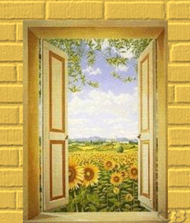 A janela dos girassóis