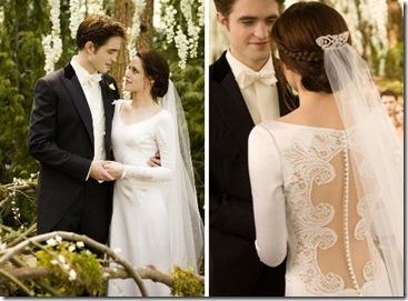 vestido sin espalda para boda peinado con trenzas hermosos 2013