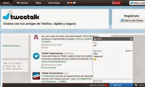 Tweetalk- añadir una ventana de chat a Twitter