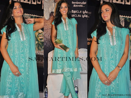 Amy Jackson In Salwar « New Movies Poster,Stills And ...