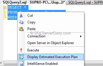 display estimated execution plan