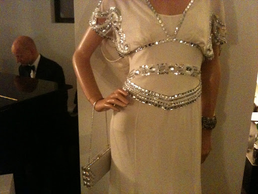 Temperly London dress and the clutch is Judith Leiber.
