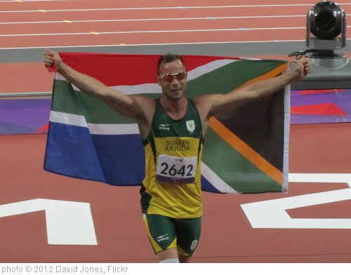 'Oscar Pistorius wins the 400m T44 final' photo (c) 2012, David Jones - license: http://creativecommons.org/licenses/by/2.0/