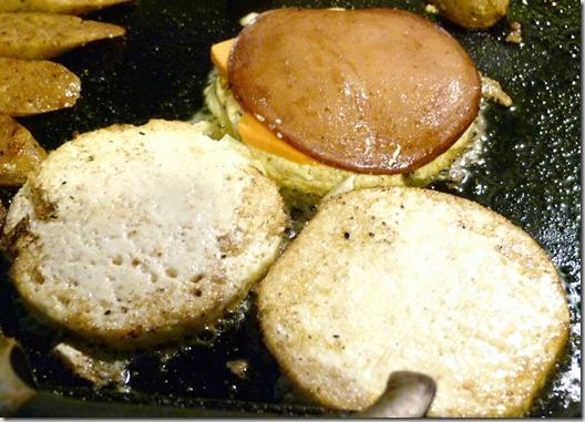 tofu egg in skillet