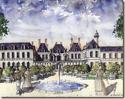 Hotel de Soissons de la reine Catherine de Medicis vers 1650