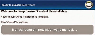 cara uninstall deepfreeze