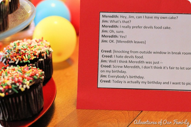meredith from the office quotes for party