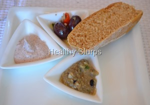 Ciabatta with Dips and Olives