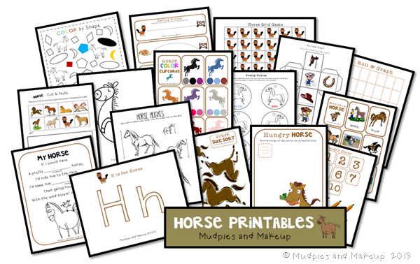 horse games for preschoolers mudpies and make up preschool printables 724