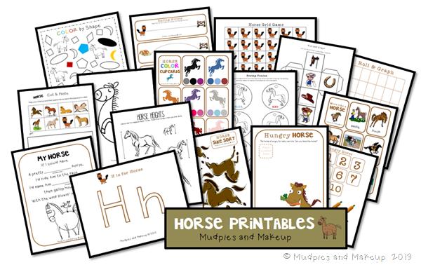 Preschool Horse Printables