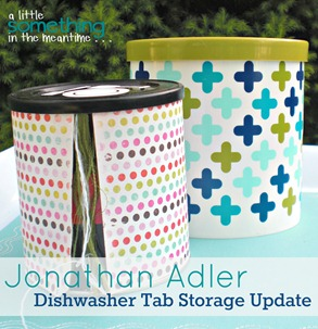 Jonathan Adler Dishwasher Tab Storage Update