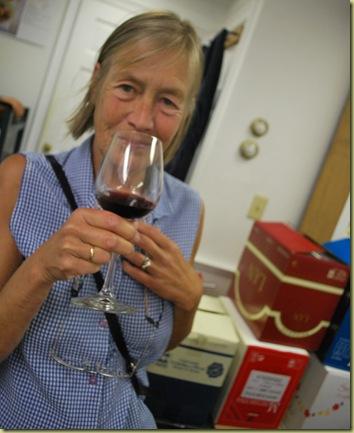 2011-07-06 Anna tasting Wine