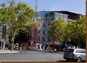 Lisbon, building screen