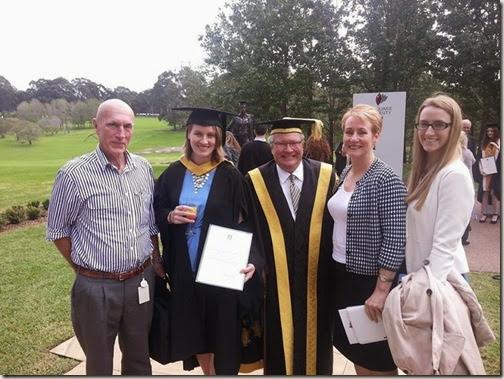 Clare's graduation