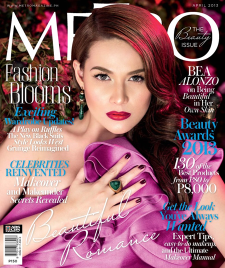 Bea Alonzo on Metro April 2013 cover