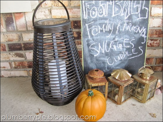 {plumberry pie} lanterns pumpkins