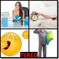TIRED- 4 Pics 1 Word Answers 3 Letters