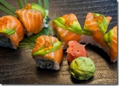 Salmon And Avocado Sushi Roll SeaFood