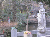 Statues near the Benzaiten shrine in Inokashira park.