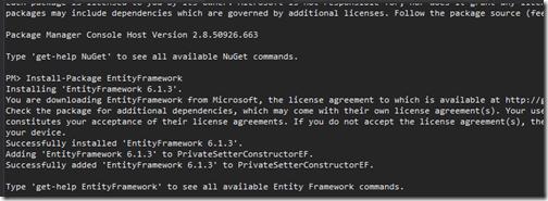 install-entity-framework