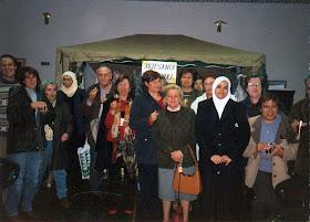 Latifa Boumediane en el primer zoco organizado en el CCIV.