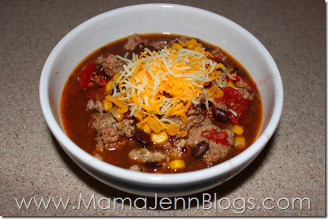 Simplified Dinners eBook Meal: Black Bean Chili