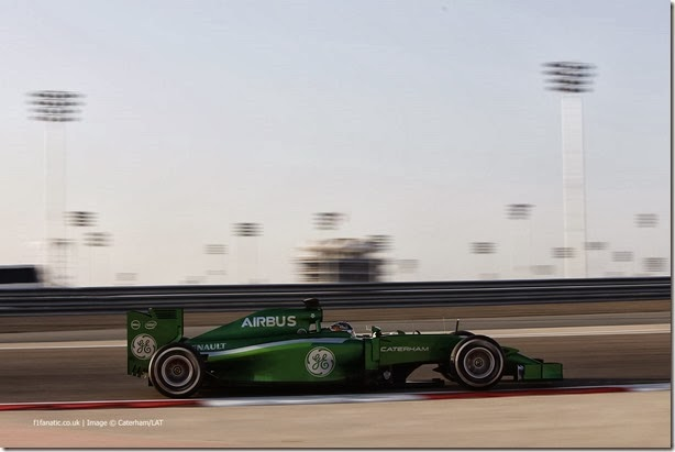 2014 F1 Pre Season Test 2 - Day 2 Bahrain International Circuit, Bahrain. Thursday 20 February 2014. Kamui Kobayashi, Caterham CT05 Renault. World Copyright: Andrew Ferraro/LAT Photographic. ref: Digital Image _79P1767