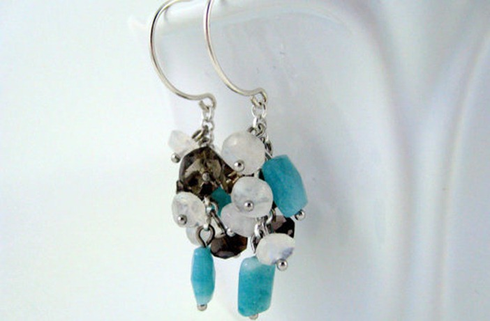 sea flower earrings