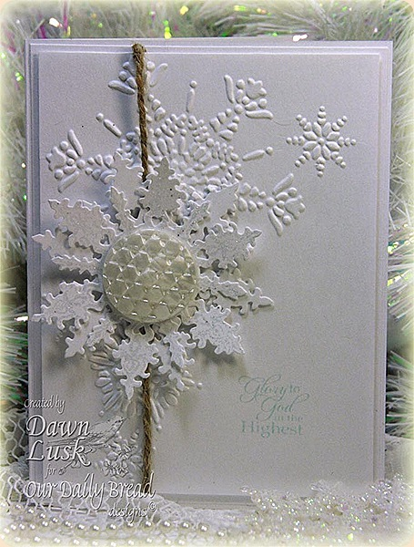 TLC354 Snowflake Button