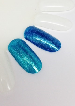OPI Catch Me In Your Net (left) vs The Sky's The Limit (right) 2