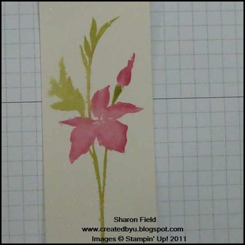 Fabulous Florets, senior stampin, neptune beach senior center, techniques, tips, tutorial, watercolor, senior center, shimmer mist, sharon field, createdbyu, created by you, ribbon, big shot