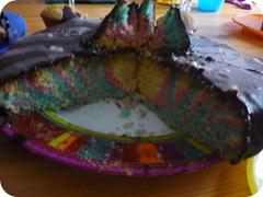 et l'intérieur du gâteau