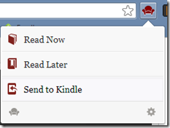 Readability extension for Chrome