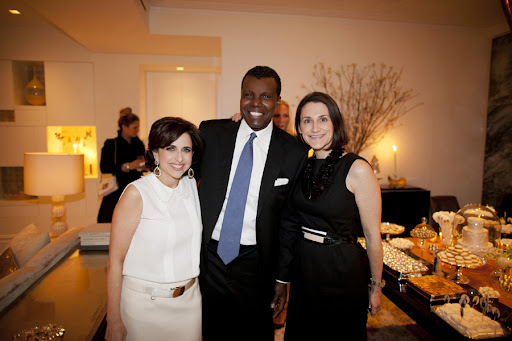 Here I am with Mark and Emilie Rubinfeld of Carolina Herrera.