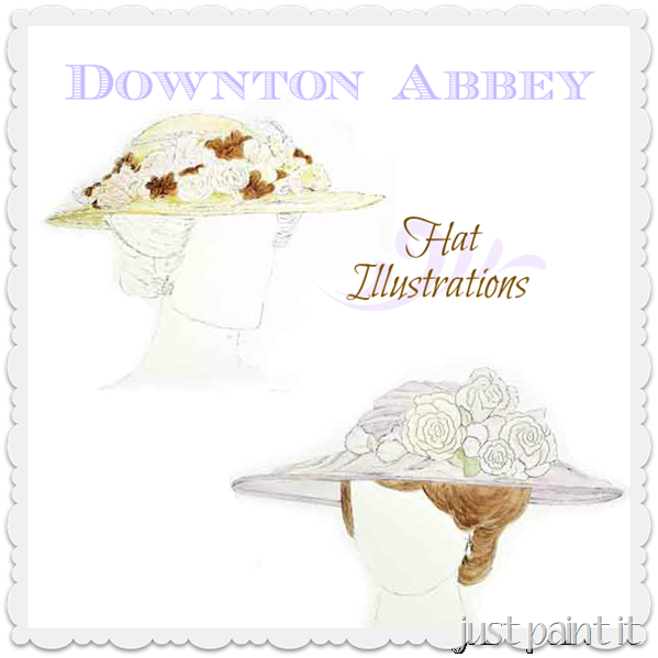 Downton Abbey Hat Illustrations