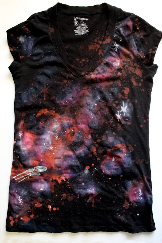 DIY Galaxy Shirt by PunkProjects