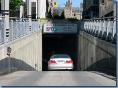 6037 Ottawa Metcalfe St - World Exchange Plaza underground parking &  Parliament Bldgs ahead