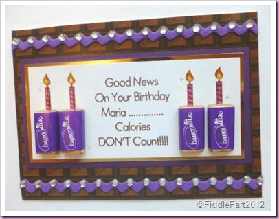 Chocolate Birthday Card cadbury miniatures