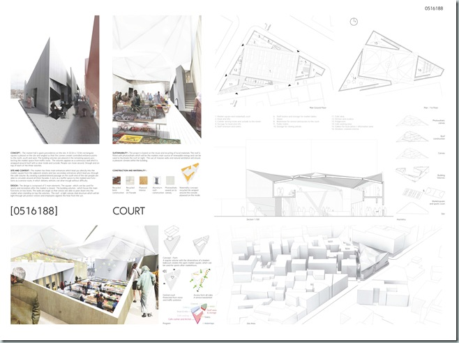CASABLANCA_international architecture competition_AC-CA_Plaza de un Mercado Sustentable_Sustainable Market Square _Place d'un Marché Ecologique_Mencion de Honor